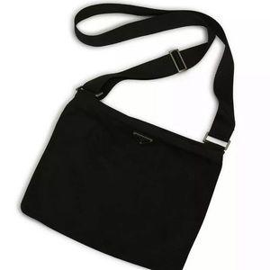 Authentic Prada Black Vela Crossbody Messenger Bag